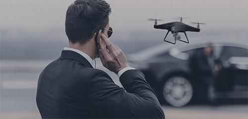 Agent de sécurité - Drône